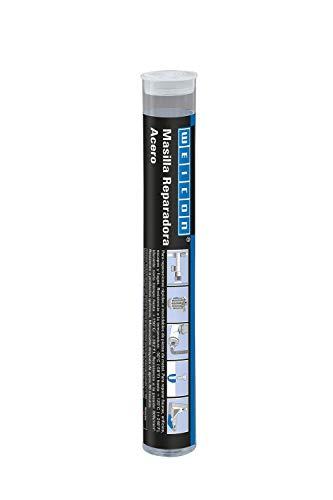 WEICON 10533115-36 Barra reparadora | Acero | 115g | Pegamento de 2 Componentes | Resina epoxi | Reparaciones de Piezas metálicas, Gris oscuro, 115 g