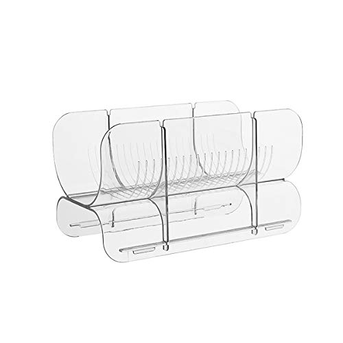 LOKIH Set Of 1 Wine and Water Bottle Organizer, Stackable Plastic Wine Rack Holder for Pantry, Kitchen, Fridge, Ideal Storage for Wine, Soda, Pop and Beer