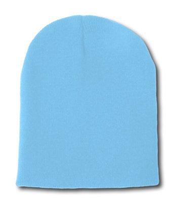 Bonnet court en acrylique à couleur unie.Produit offert par NYfashion101.