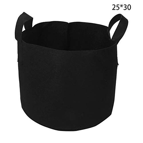 Rosepoem 10 Pack Black Non-Woven Fabric Bag Planting Tree Planting Bag Seedling Flowerpot Flower Plant Bag Plant Bag Non-Woven Fabric Shopping Mall Species