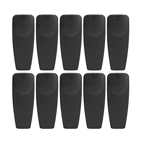 SALUTUY Abrazadera de Radio de 2 vías, Clip de cinturón para intercomunicador Material plástico ABS Abrazadera de walkie Talkie para Auriculares Micrófonos de Mano Clips de puño, Clips de Cuello