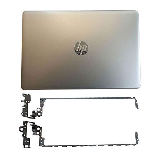 YUHUAI - Carcasa para HP Pavilion 250 G6 255 G6 256 G6 258 G6 TPN-C129 TPN-C130 15-BS 15-BW y LCD Parte Superior de Repuesto para Ordenador portátil, Color Plateado + bisagras de Pantalla LCD