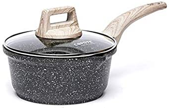 RAINBEAN Saucepan with Lid, Non Stick Induction Pans 20cm/ 3L Milk Pan, Forged Aluminum Cooking Pots with Bakelite Wood Ef...