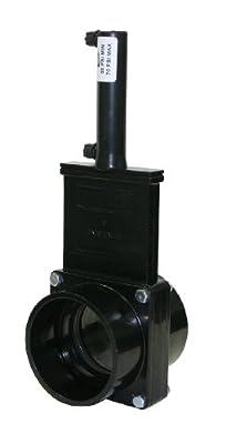 "Valterra 9301P ABS Pneumatic Gate Valve, Black, 3"" Slip, Plastic Air Cylinder by Valterra Products"