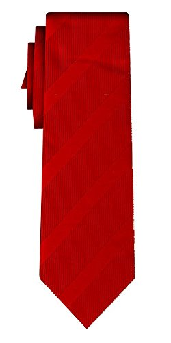 Cravate rayée stripe I red in red