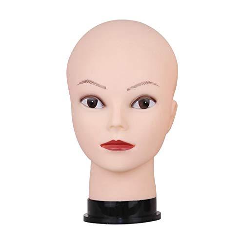 Milageto Hombre Mujer Maniquí Pelucas Calvas Makin Head para Sombreros Gafas de Sol Bufandas Exhibición - Maquillaje Blanco, Individual