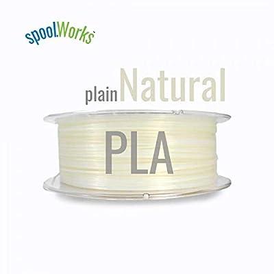 E3D spoolWorks PLA Filament (3mm, Natural Plain)