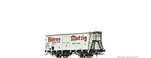 """BRAWA 67457 Gedeckter Güterwagen HLF """"Bieres Mutzig"""" der SNCF"""