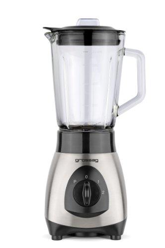 grote ag Blender met glazen pot MX 19 0 8 liter roestvrij staal geborsteld zwart 250 W
