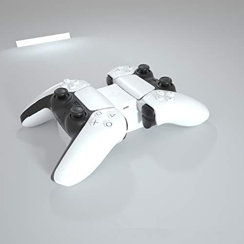 LINANNAN Producto Nuevo Controlador de Carga PS5, Playstation 5 controla Dos Asientos PS5 Juego Cargador de Controlador, Tipo de Puerta C Recarga