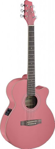 Stagg SA40MJCFI-PK Acoustic-Electric Guitar