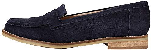 Amazon-Marke: FIND Tassle Leather Slipper, Blau (Navy), 41 EU