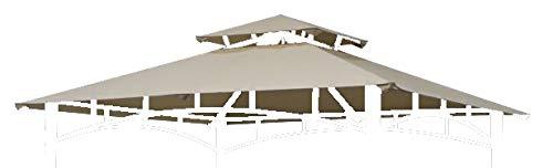 TrendLine Ersatzdach 2,20 x 1,81 m für Grillpavillon Taupe Grillhütte Grillzelt