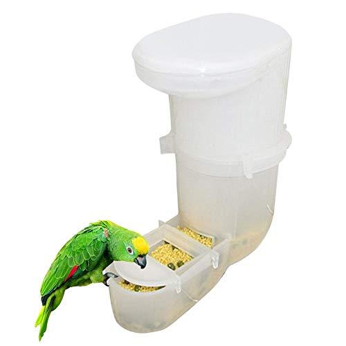 Starte Mangeoire pour Les Oiseaux, Mangeoire à Oiseaux sans gâchis Mangeoire à Oiseaux Automatique Mangeoire pour Perroquet Accessoires de Cage à Oiseaux, Convient à la Plupart des Cages à Oiseaux