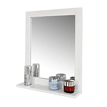 Foto di SoBuy Set mobili da Bagno salvaspazio (Specchio, Bianco) FRG129-W