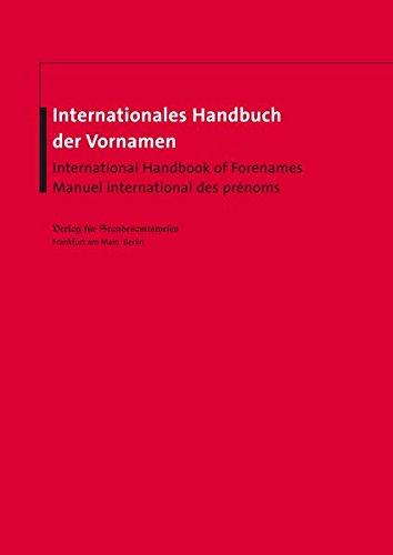otto nüsslers internationales handbuch für vornamen