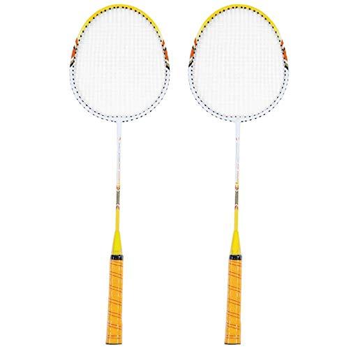 Zhicaikeji Raqueta de Badminton 2 Piezas de Raqueta de bádminton Ultra-Light Double Badminton Raqueta de Ocio al Aire Libre Accesorios Deportivos con Bolsa para Juegos de Bádminton