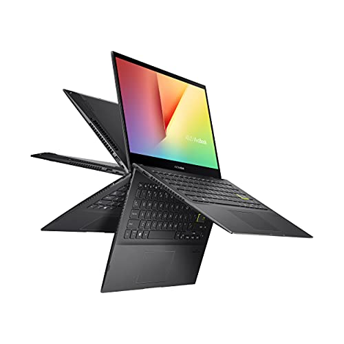 """ASUS VivoBook Flip 14 Thin and Light 2-in-1 Laptop, 14"""" FHD Touch, 11th Gen IntelCore i3-1115G4, 4GB RAM, 128GB SSD, Thunderbolt 4, Fingerprint, Windows 10 Home in S Mode, Indie Black, TP470EA-AS34T"""