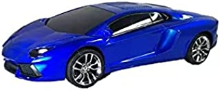 Bluetooth headset in the shape of a beautiful car Works with bluetooth, flash output, and memory (blue)