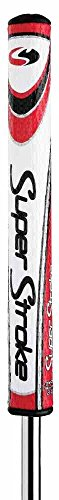 "SuperStroke Mid Slim 2.0 Putter Grip, Oversized, Lightweight Golf Grip, Non-Slip, 10.50"" L X 1.20"" W, USGA Approved, Red"