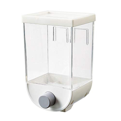fuguzhu Lebensmittelspender, Wandmontage Easy Press Trockenfutter Körner Nüsse Kaffeebohnen Sojabohnen Dispensierbehälter, 1000ML Oder 1500ML, Cerealienspender (1L)