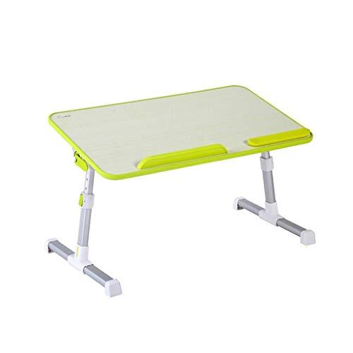 B-fengliu Bett-Schreibtisch, Faltbarer Kleiner 36-Grad-Tisch, fauler Tisch, Lerncomputer-Schreibtisch 60cmx33cm (Color : Green)