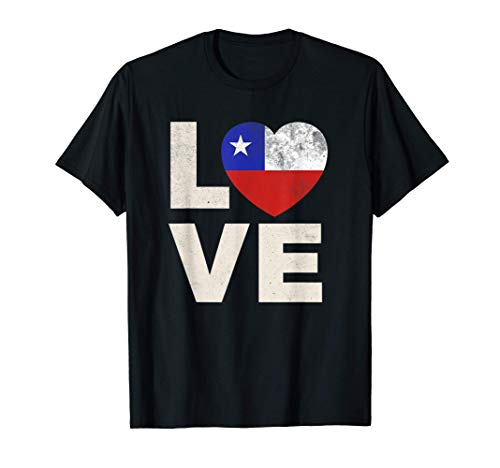 Camisa de bandera de Chile Amor Orgullo de Chile Camiseta
