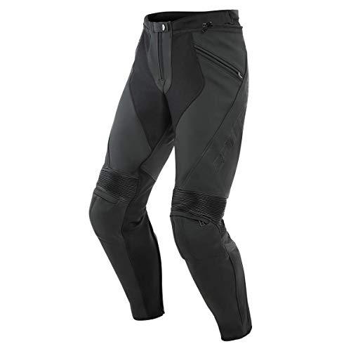 Dainese Kombihose Lederkombi Motorradhose mit Protektoren Pony 3 Lederhose schwarz 52 (L), Herren, Sportler, Ganzjährig