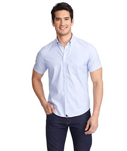 UNTUCKit Hillstowe Wrinkle Free – Untucked Shirt for Men, Short Sleeve