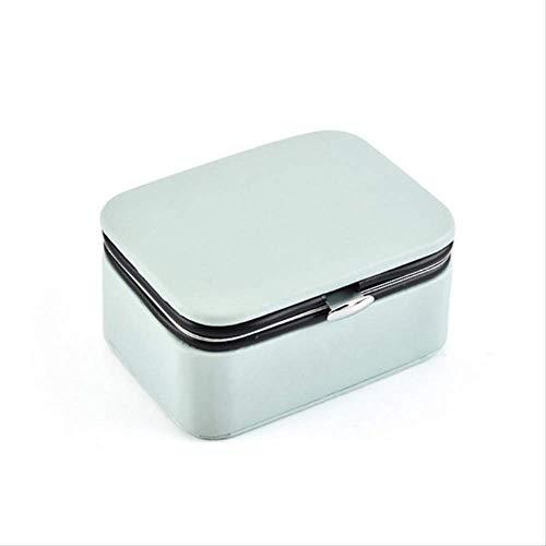 Winter Cajas de Joyas Mini joyero portátil con Pendientes de botón 1