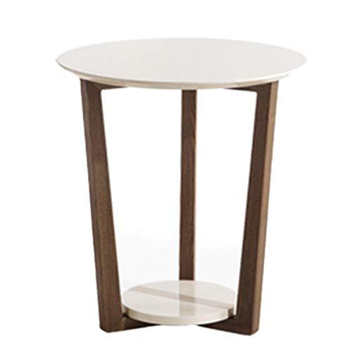 Tables basses Coin Simple Côté Canapé Table D'appoint Coin Salon Se Déplaçant Petit Rond Mobilier De Table De Téléphone Cadeau (Color : Blanc, Size : 55 * 50cm)