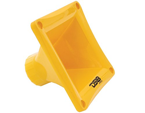 DS18 PRO-H44 Yellow Universal Square Driver Tweeter Horn Body Easy Twist On/Off Installation , Set of 1 (Yellow)