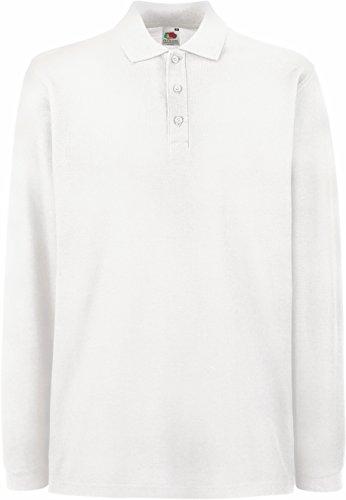 Fruit of the Loom - Premium Longsleeve Polo - Modell 2013 / White, XL XL,White