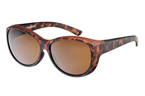 IKY Eyewear overzet zonnebril OB-0002B havanna solid