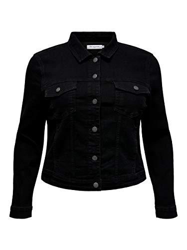 ONLY Carmakoma Carwespa LS Jacket BB Pim004 Chaqueta de Jean, Black, 48 para Mujer