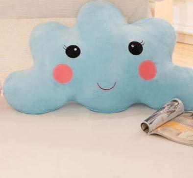 ML Cojín Suave de Felpa Fina, con Forma de Nube, Especial para bebés, 50x30 (Azul)