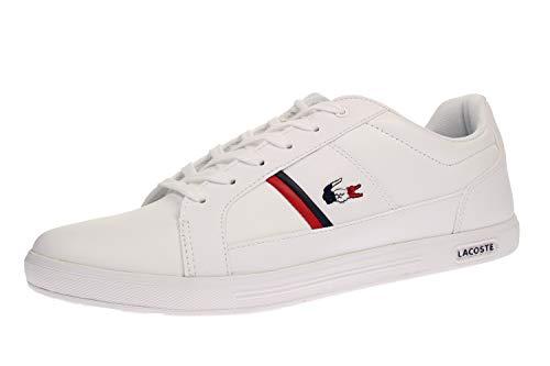 Lacoste Herren Europa TRI1 SMA Sneaker, Weiß (Wht/NVY/Red), 43 EU