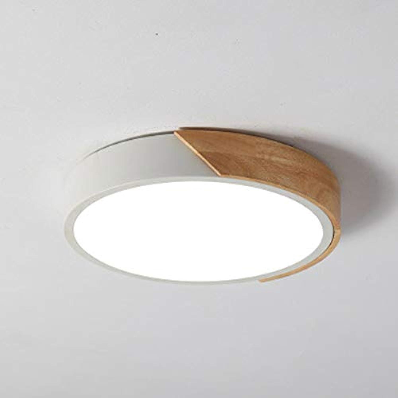 SXFYWYM LED Ceiling Light Acryl-Material Moderne minimalistische Ultra-Thin-Runde Kronleuchter für Schlafzimmer Wohnzimmer-Korridor Beleuchtung verwendet,Weiß,ThreeFarbelight40cm