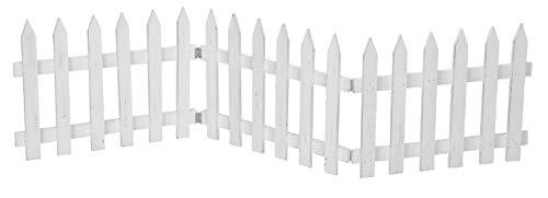 Deko-Zaun Holz-Zaun Jäger-Zaun 3 Zaunelemente a 40 cm zum klappen 30 cm hoch weiss shabby Optik