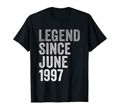 Leyenda Desde Junio de 1997 Año de Cumpleaños Camiseta