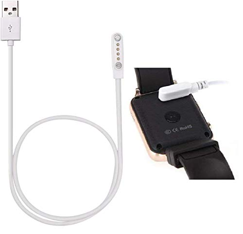 XJDAMZ Charging Cable for Smart Watch,4 Pins Magnetic Adsorption USB Charger Cable for Bluetooth Smart Watches: Picture Size is Correct(Be Sure to Check) (4 Pin) …