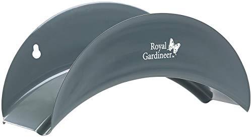 Royal Gardineer Schlauchhalter: Stahl-Wandhalter für Gartenschläuche, gewölbt, 13 x 28 x 12 cm (Schlauchhalterung)