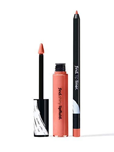 Marchio Amazon - find. Effortless Look (Matita labbra n.1 + Rossetto liquido shiny n.1)
