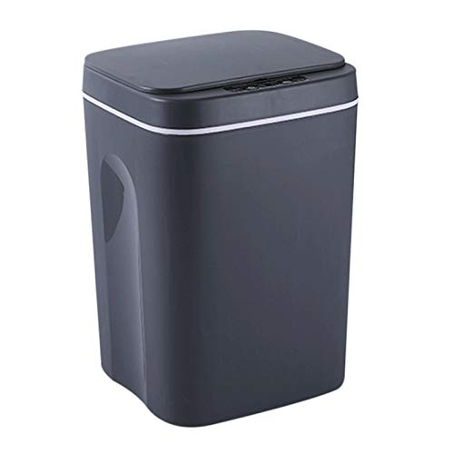 Cubo de basura automático, cubo de basura inteligente de inducción para tocar, cubo de basura autocambiante, tapa abierta automática para el hogar, la cocina y el baño