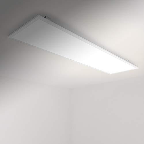 Allesin Panneau LED 120x30cm (40w Blanc Naturel 4000K) Dalle de Plafond Luminosité Réglable, Ultra-mince, Plafonnier Lumière LED, Cadre Blanc avec Matériel de Montage et transformatuer