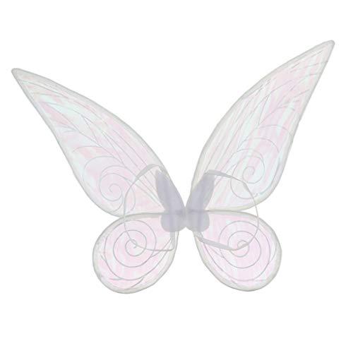 Blesiya Schmetterlingsflügel Feenflügel Farbwechsel Elfenflügel für Erwachsenen Cosplay Party Kostüm - Weiß, 46cm * 42cm