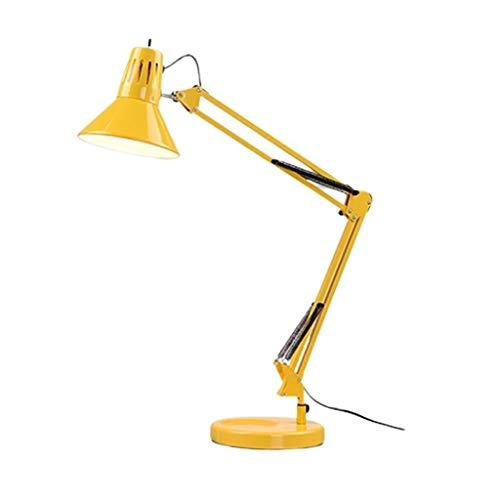 Lámpara de mesa Brazo oscilante Reposabrazos Lámpara de mesa Atenuación Protección for los ojos Dormitorio Estudio junto a la cama Sala de estar Lámpara de escritorio ajustable de metal plegable Equil