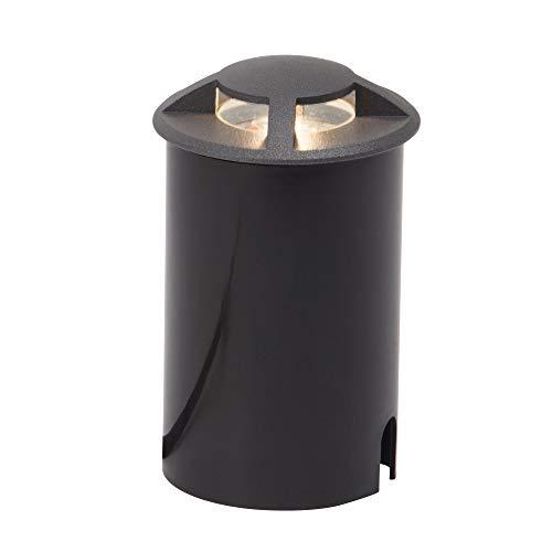 AEG lamp Tritox LED vloerinbouwlamp voor buiten 4-zijdig antraciet |1x 3W LED geïntegreerd (COB), (200lm, 3000K) |Schaal A ++ tot E |IP 67 - bescherming tegen tijdelijke onderdompeling