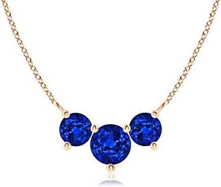 Classic Memphis Mall San Diego Mall Trio Sapphire Blue 5mm Necklace