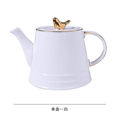 Copa De Vino Juego De Tazas De Café Del Norte De Europa Juego De Café Simple Juego De Té De La Tarde En Inglés Taza De Agua De Cerámica Para El Hogar Con Juego Completo, Cafetera Blanca